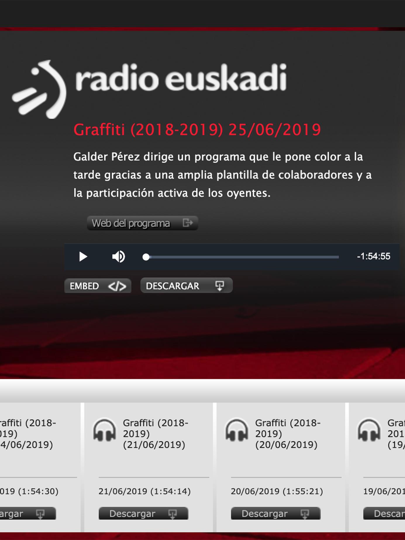 Graffiti. Radio Euskadi